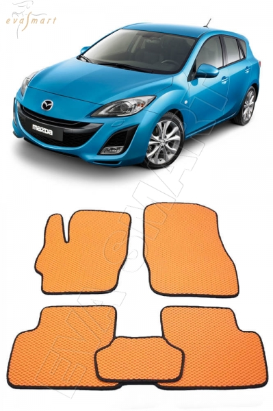 Mazda 3 (BL) 2009 - 2013 коврики EVA Smart
