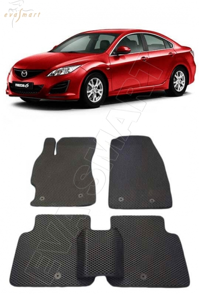 Mazda 6 II (GH) 2007 - 2012 коврики EVA Smart