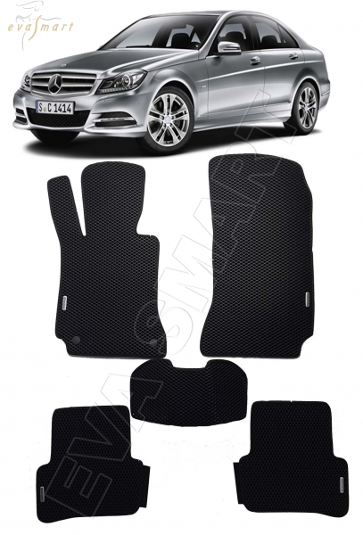 Mercedes-Benz С-класс (W204) рестайлинг 2011 - 2015 коврики EVA Smart