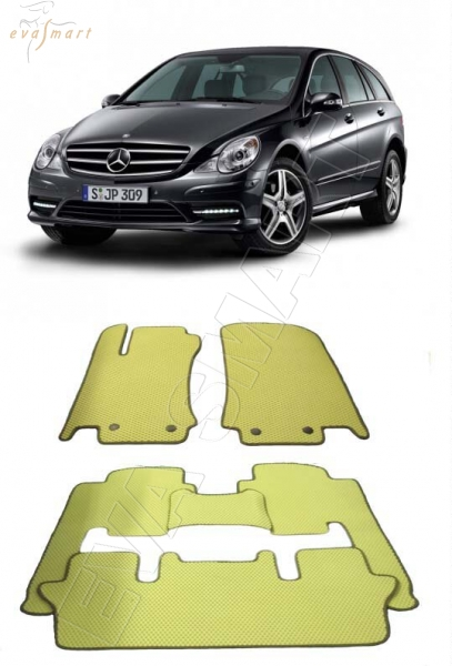 Mercedes R - klasse 2007 - 2010 (w251)  long 6 мест Автоковрики 'EVA Smart'