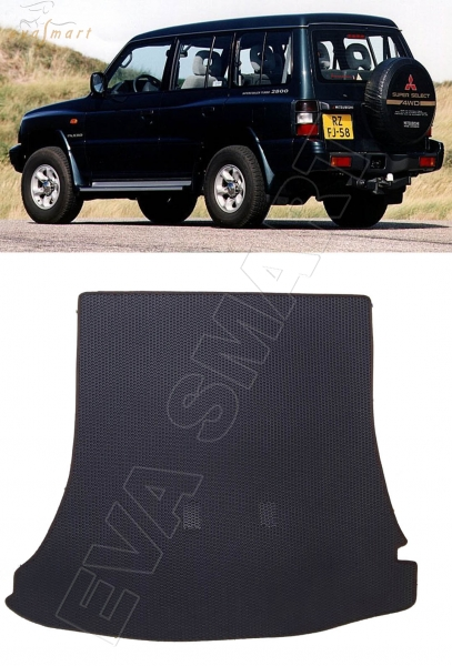 Mitsubishi Pajero II багажник 1990 - 2004 коврики EVA Smart