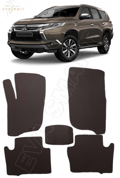 Mitsubishi Pajero Sport III 2015 - н.в. коврики EVA Smart