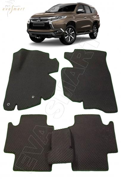 Mitsubishi Pajero Sport III вариант макси 3d 2015 - н.в. коврики EVA Smart