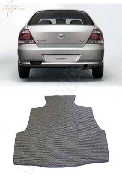 Nissan Almera Classic 2006 - 2013 коврик в багажник EVA Smart