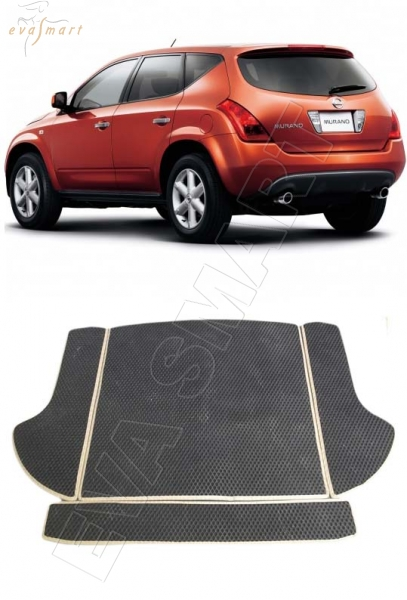 NissanMurano I (Z50) багажник 2002 -2008 Автоковрики 'EVA Smart'