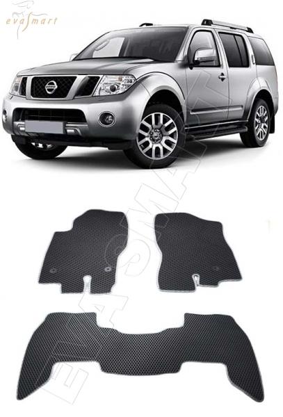 Nissan Pathfinder III (R51) рестайлинг 7 мест 2010 - 2014 коврики EVA Smart