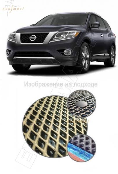 Nissan Pathfinder IV (R52) 7 мест 2014 -  Коврик багажника макси EVA Smart