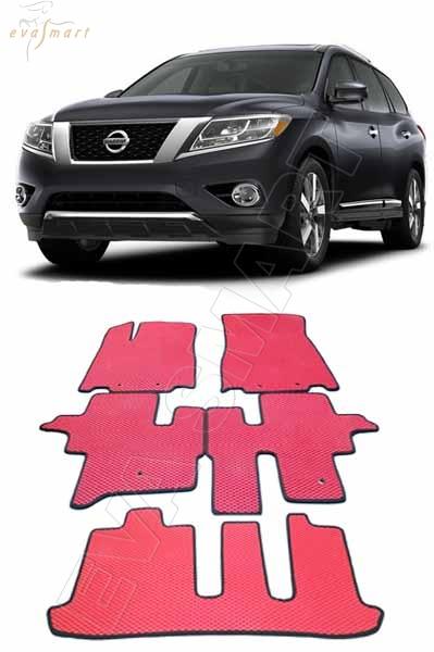Nissan Pathfinder IV (R52) 7 мест 2014 -  н. в. Автоковрики 'EVA Smart'