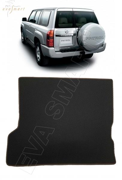Nissan Patrol (Y61) 2004 - 2010 коврик в багажник EVA Smart