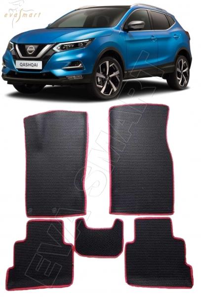 Nissan Qashqai J11 вариант макси 3d 2014 - н.в. (сборка Англия) коврики EVA Smart