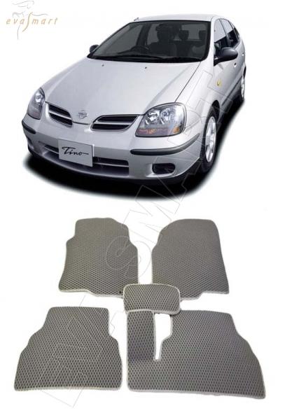 Nissan Tino правый руль 1998 - 2003 коврики EVA Smart