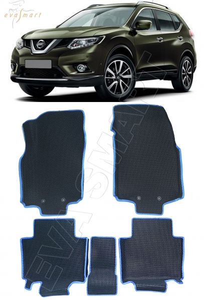 Nissan X-Trail (T32) вариант макси 3d 2013 - н.в. коврики EVA Smart