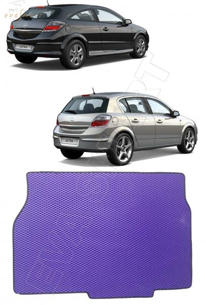 Opel Astra H GTC купе, хэтчбек 2004 - 2015 коврик в багажник EVA Smart