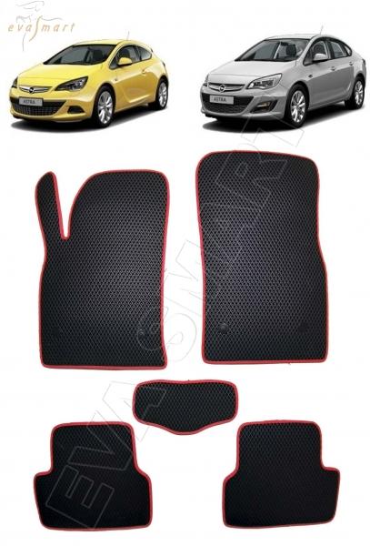 Opel Astra J GTC 2009 - 2017 коврики EVA Smart