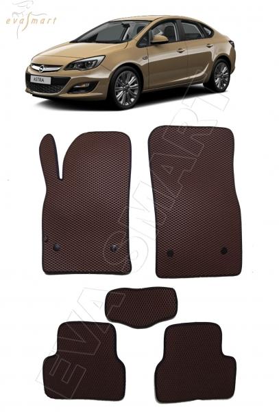 """Opel Astra J (хэтчбек, седан, универсал) 2009 - 2017 коврики """"EVA Smart"""""""
