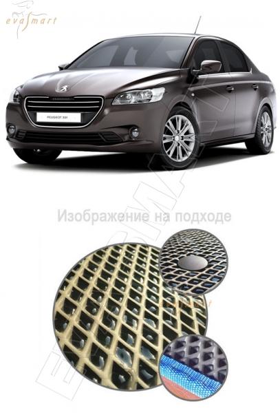 Peugeot 301 2013 - 2015 Автоковрики 'EVA Smart'