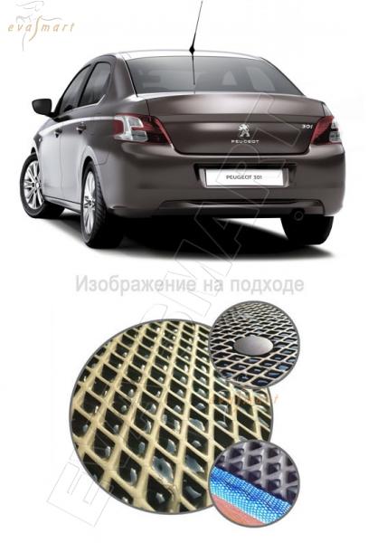 Peugeot 301 2013 - 2015 Коврик багажника EVA Smart