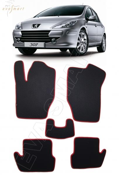 Peugeot 307 2001 - 2008 коврики EVA Smart