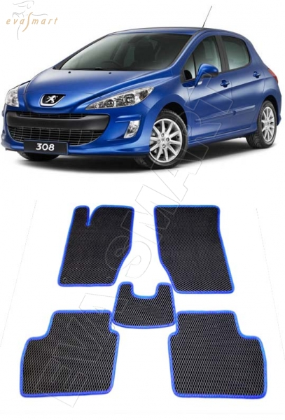Peugeot 308 I 2008 - 2015 коврики EVA Smart