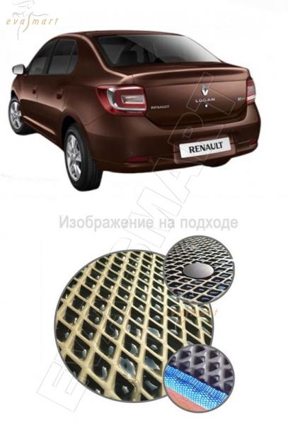 Renault Logan II 2014 - Коврик багажника EVA Smart