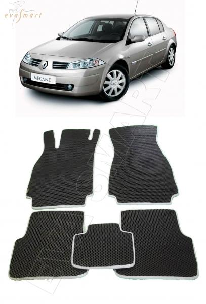 Renault Megane II 2002 - 2009 коврики EVA Smart