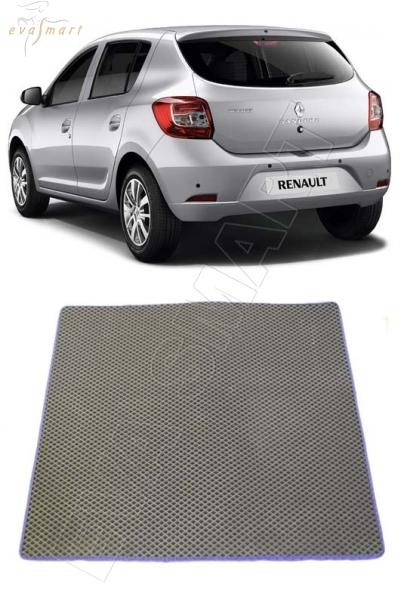 Коврик багажника EVA Smart для Renault Sandero II хетчбек 2014 -