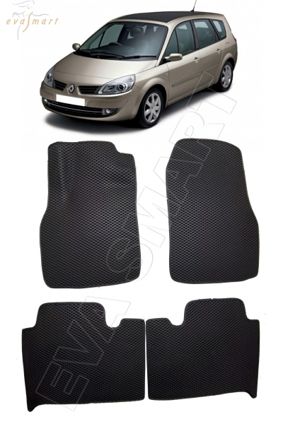 Renault Scenic II 2003 - 2010 коврики EVA Smart