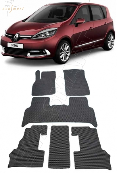 Renault Scenic III 2010 - н. в. Автоковрики 'EVA Smart'