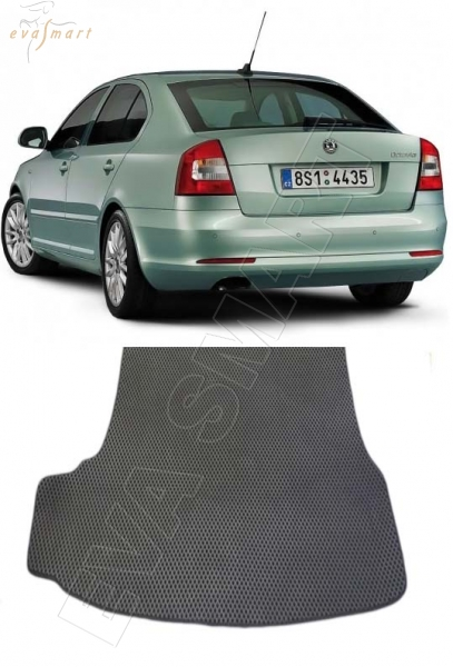 Skoda Octavia (A5) 2004 - 2013 лифтбэк коврик в багажник EVA Smart