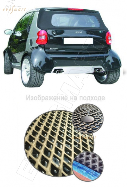 Smart Fortwo (450) багажник 1998 - 2007 Автоковрики 'EVA Smart'