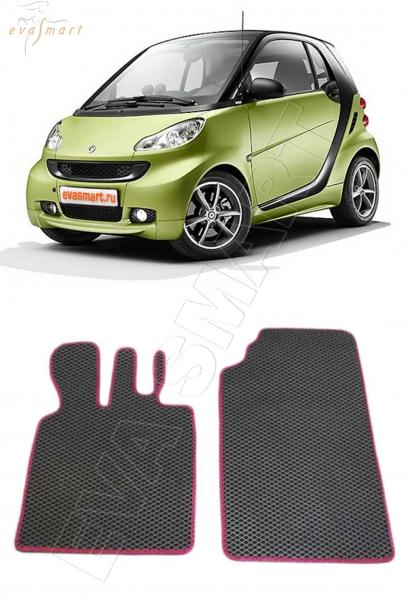 Smart Fortwo II (451) 2007 - н. в. Автоковрики 'EVA Smart'