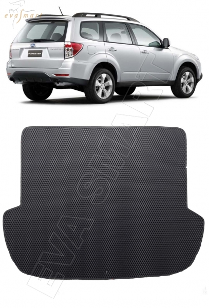 Subaru Forester III (SH) 2008 - 2013 коврик в багажник EVA Smart