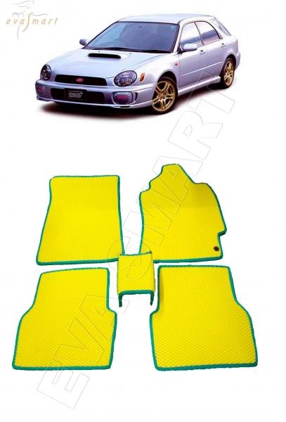 Subaru Impreza II правый руль 2000 - 2002 коврики EVA Smart