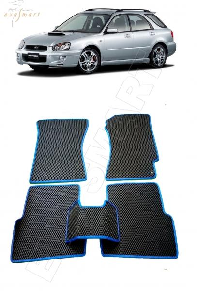 Subaru Impreza II  правый руль рестайлинг 2002-2005 Автоковрики 'EVA Smart'