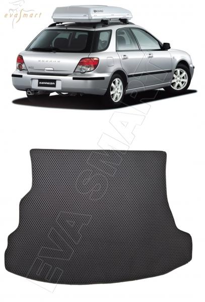 Subaru Impreza II 2000 - 2007 коврик в багажник универсал EVA Smart