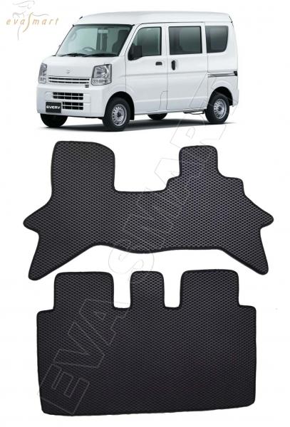 Suzuki Every VI правый руль 2015 - н.в. коврики EVA Smart