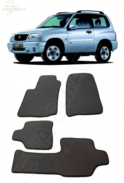 Suzuki Grand Vitara FT 3дв 2000 - 2006 коврики EVA Smart