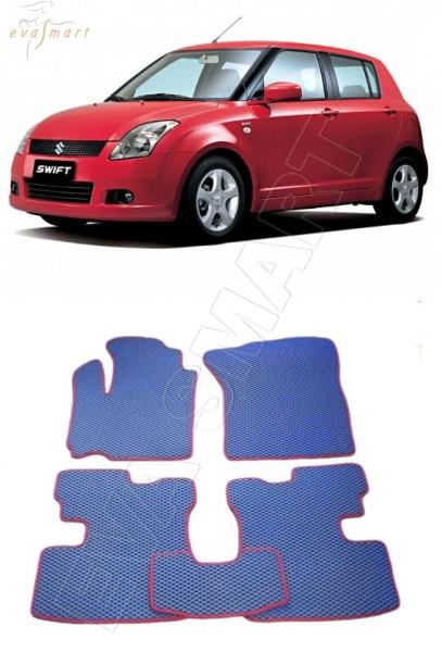 SuzukiSwiftIII правый руль 2004-2010 Автоковрики 'EVA Smart'