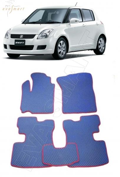 Suzuki Swift III 2004 - 2010 коврики EVA Smart