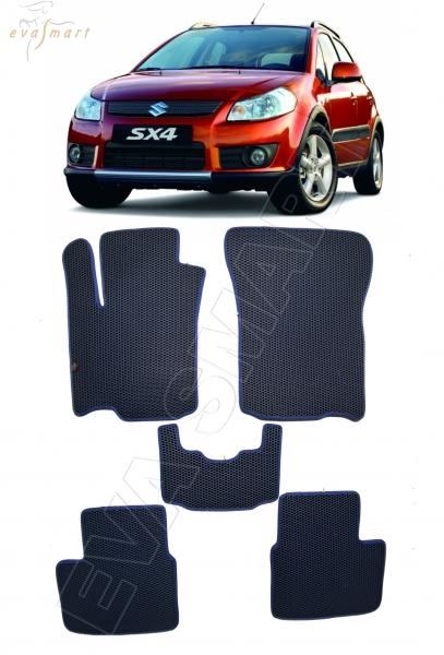 Suzuki SX-4 I 2006 - 2014 коврики EVA Smart