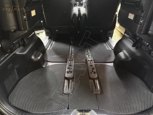 Toyota Alphard III рестайлинг 7 мест 2017 - н.в. коврик в багажник EVA Smart