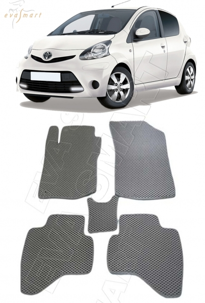 Toyota Aygo I 2005 - 2014 коврики EVA Smart