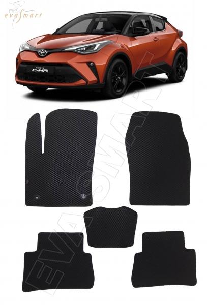 Toyota C-HR I 2016 - 2019 коврики EVA Smart