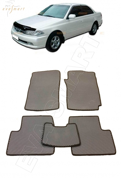 Toyota Carina T210 правый руль 1996 - 2001 коврики EVA Smart