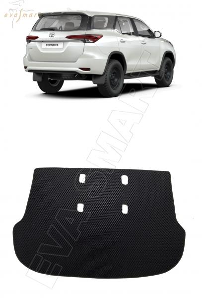 Toyota Fortuner II кроссовер 5 мест коврик в багажник 2015 - н.в. EVA Smart