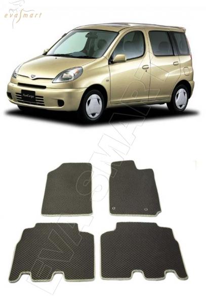 Toyota FunCargo 1999 - 2005 правый руль Автоковрики 'EVA Smart'