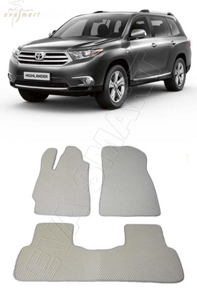 Toyota Highlander II (U40) 2007 - 2013 коврики EVA Smart
