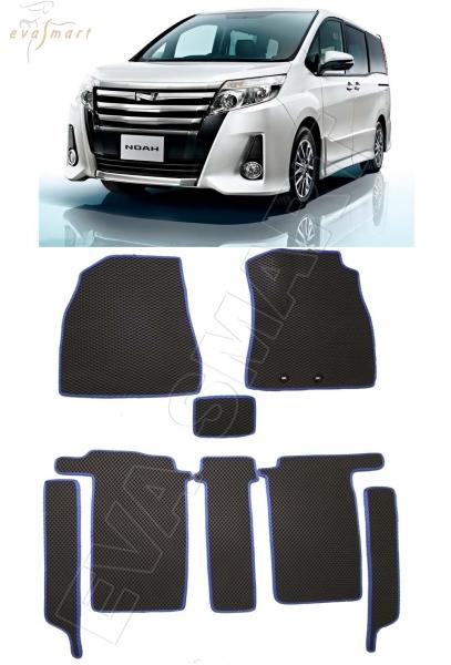 Toyota Noah III (R80) правый руль минивэн 4 места 2014 - н.в. коврики EVA Smart