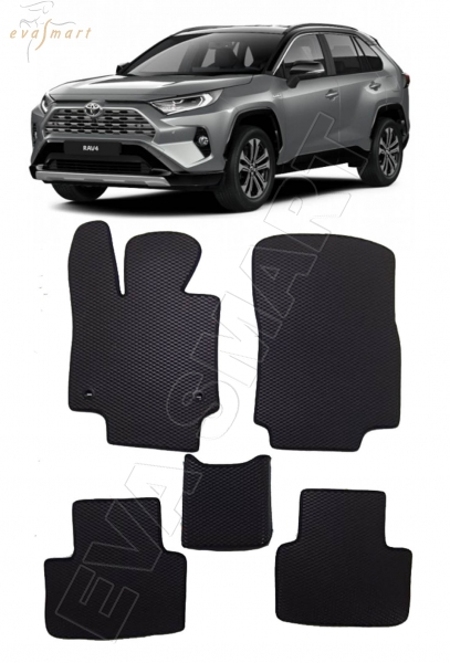 Toyota RAV4 V (XA50) 2018 - н.в. коврики EVA Smart