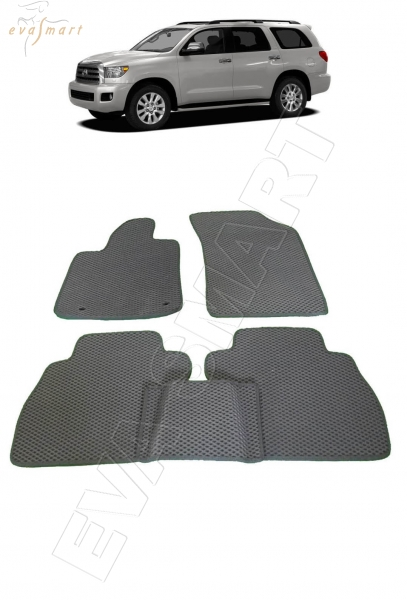 Toyota Sequoia II 2008 - н.в. коврики EVA Smart